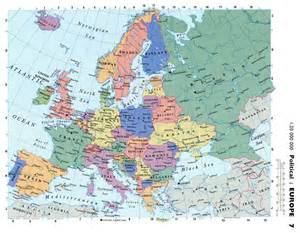 Road Map Of Europe by Maps Of Europe And European Countries Political Maps
