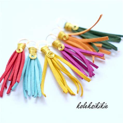 Anting Juntai Bunga membuat kalung pelangi koleksikikie