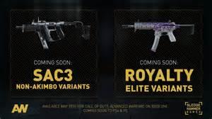 Call of duty advanced warfare gets single wield sac3 and royalty