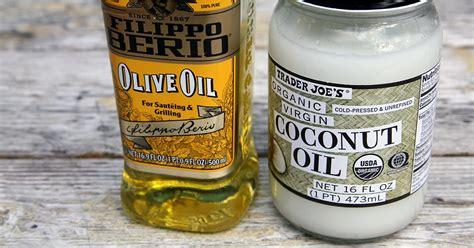 olive oil  coconut oil popsugar fitness uk