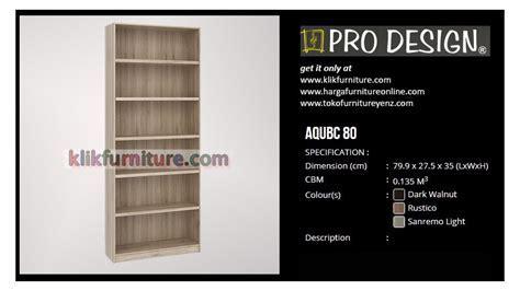 AQUBC 80 Pro Design Lemari Rak Buku   AGEN RESMI MURAH!