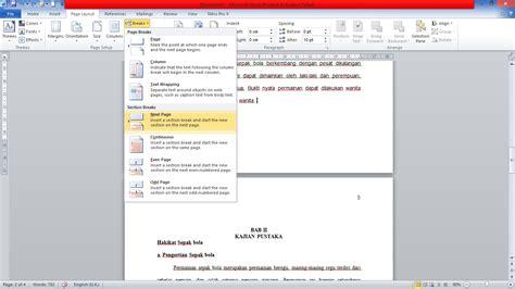 membuat letak halaman berbeda di word cara membuat letak nomor halaman yang berbeda pada