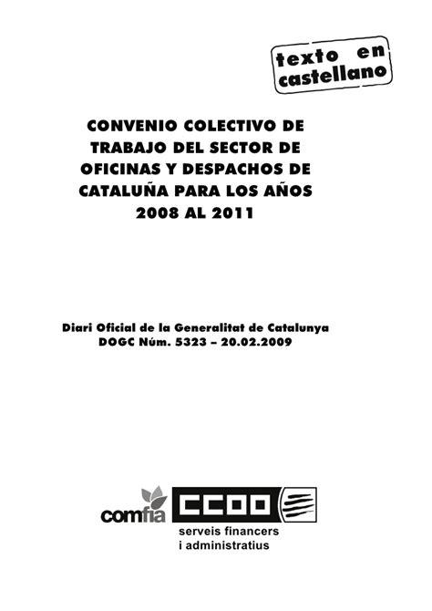 convenio colectivo sector oficinas y despachos de fenac oficinas y despachos 2008 2011