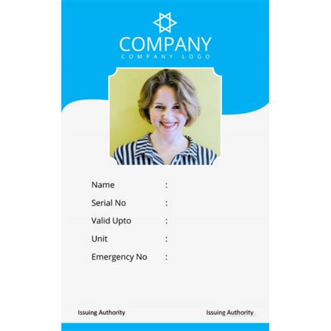 portrait id card template 40 blank id card templates psd ai vector eps doc