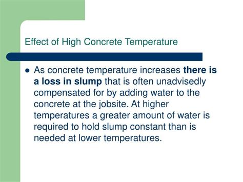 influence of temperature on the strength of concrete classic reprint books ppt weather concreting powerpoint presentation id