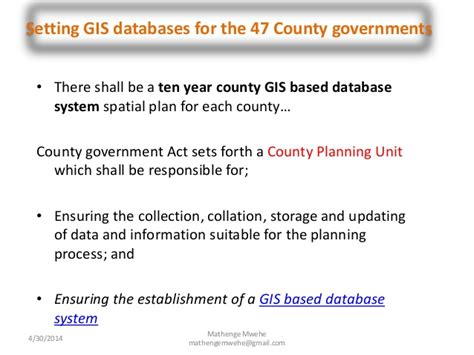 planning and gis county of kenya land use planning and the need for gis in county spatial planni