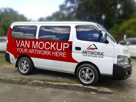 15 Unique Van Car Mockups Xdesigns Free Vehicle Wrap Templates