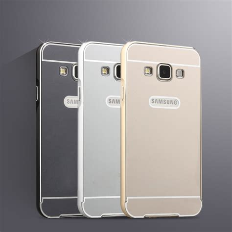 Luxury Aluminium Bumper Mirror Samsung A3 A300 A3 20 Berkualitas for samsung galaxy a3 luxury aluminum metal cell phone protective cover for samsung galaxy