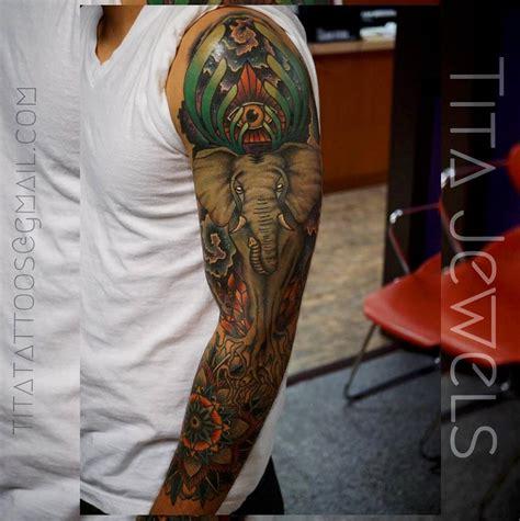 tattoo sleeve elephant 40 elephant tattoos on sleeve