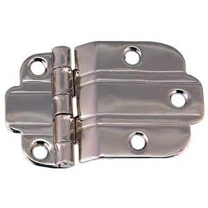 art deco hinge offset mount polished nickel c amp h