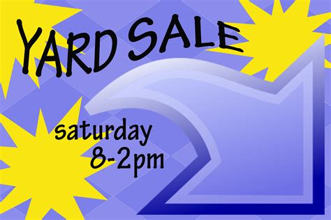 generic garage sale sign yard sale signs
