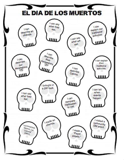 Dia De Los Muertos Printable Activities