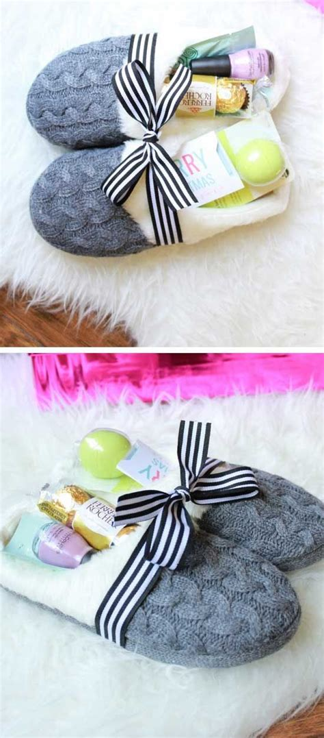 cozy slippers gift basket diy christmas gifts for family