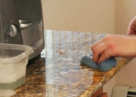 how to clean granite countertops in your kitchen