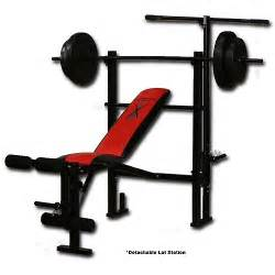 bench set competitor weight bench with 80 pound weight set walmart