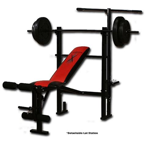 competitor weight bench with 80 pound weight set walmart com