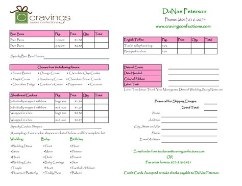 embroidery order form template free doc 585703 order forms templates free word order form