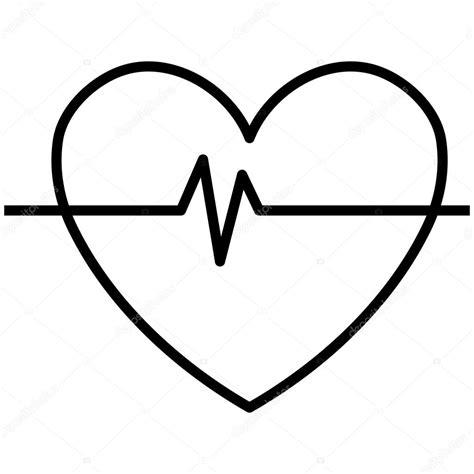 imagenes de corazones a blanco y negro blanco y negro coraz 243 n y latidos gr 225 fico vectorial