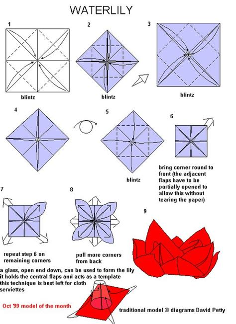 Origami Lotus Tutorial - images of origami tutorials lotus origami tutorial