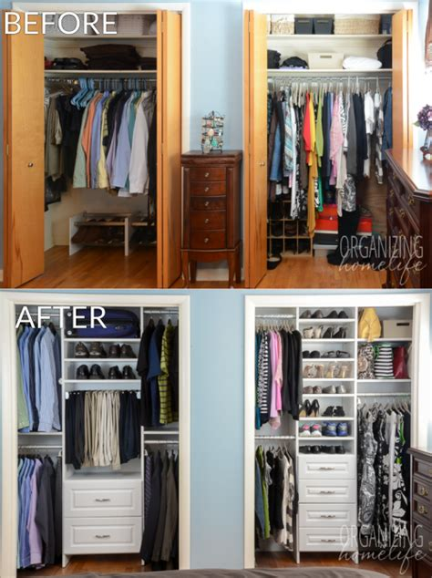 organizing small closet master bedroom closet organization the reveal surprise