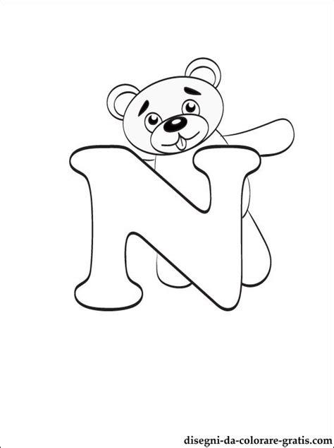 lettere dell alfabeto italiano da stare disegni da colorare lettera n disegni da colorare gratis