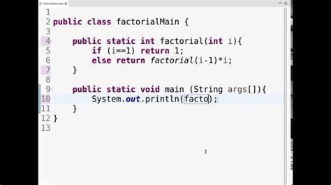 java tutorial recursion java recursion factorial simple clear coding youtube