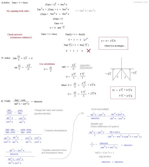 printables pythagorean identities worksheet tempojs