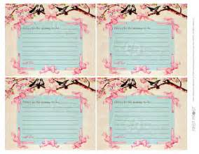 free printable advice cards bridal shower printable advice cards vintage floral ribbon baby