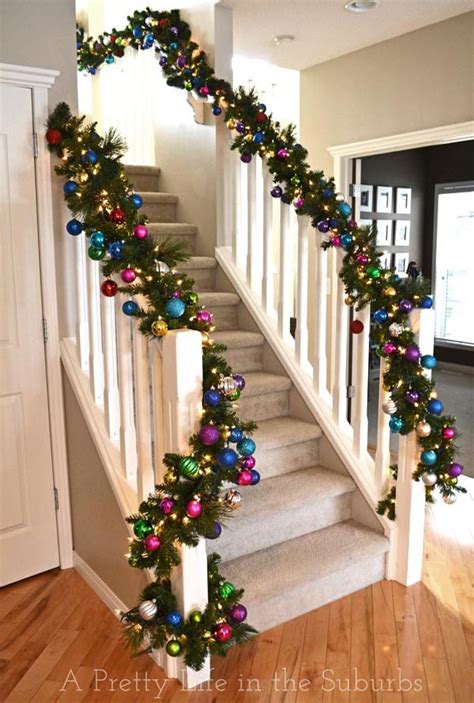 decorating a banister 40 festive christmas banister decorations ideas all