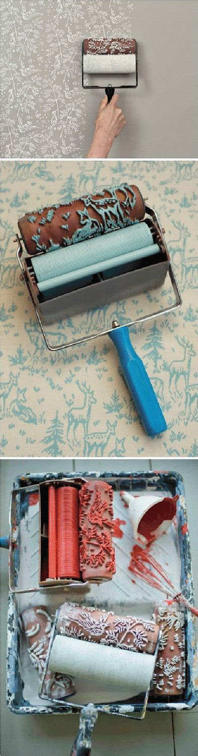 wallpaper design paint roller patterned paint roller in spring bird design by it s not