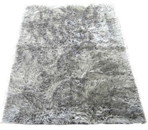 Silver Bathroom Rugs Silver Faux Fur Flokati Rug 40 Quot X55 Quot Midcentury