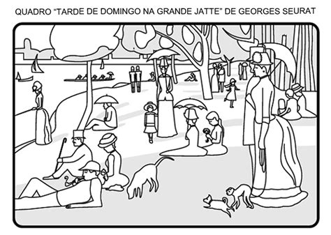 George Seurat Coloring Pages georges seurat coloring pages