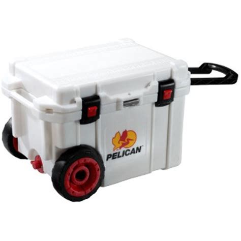 heavy duty coolers with wheels buy the pelican 32 45q mc wht cooler wheeled heavy duty