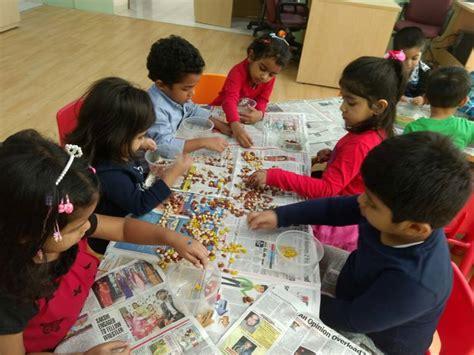 kindergarten activities group we enjoy working together in a group kindergarten