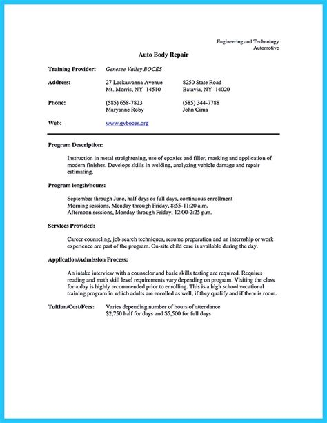 technician resume template auto cover letter sle essay writers net gt robonik