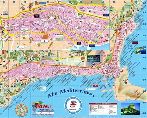 calpe spain map calpe calpe stadskaart en calpe plattegrond