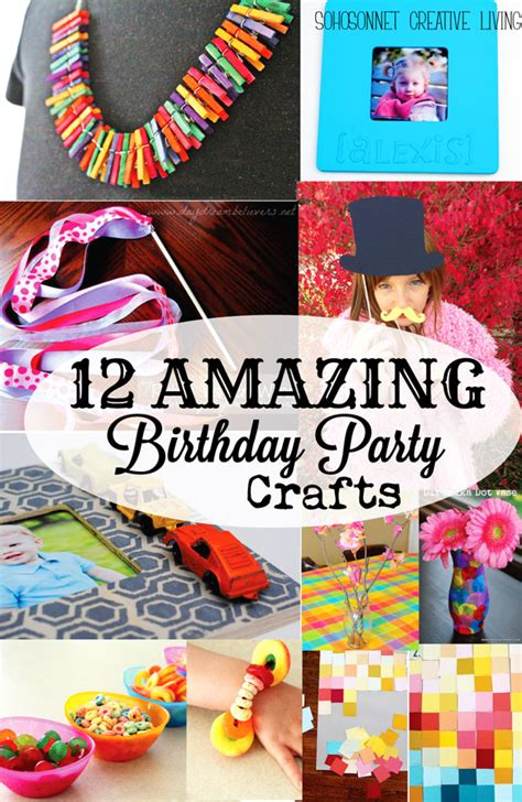 birthday crafts for 12 birthday craft activities for sohosonnet