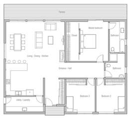 Small 3 Bedroom House Floor Plans best 25 one floor house plans ideas only on pinterest