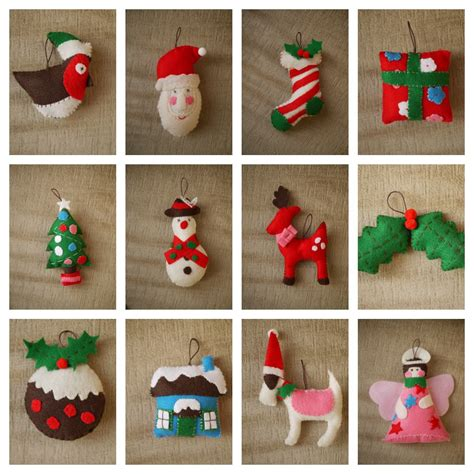 christmas tree decorations to make with felt christmas
