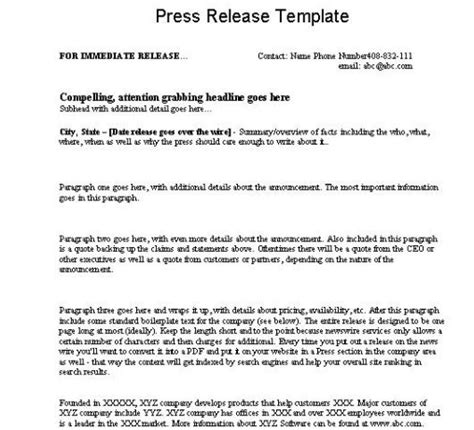 pr templates press releases education marketing analytics