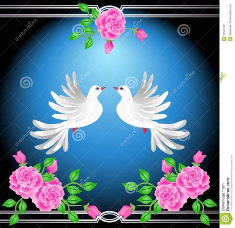 velas rom 225 nticas fotograf 237 a de archivo libre de regal 237 as palomas con rosas y reflexiones reflexiones para ti y