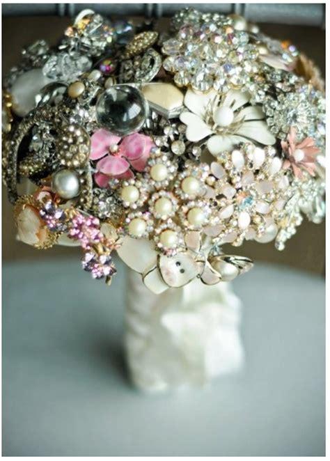 wedding bouquet jewelry vintage jewelry bouquet harvest wedding ideas