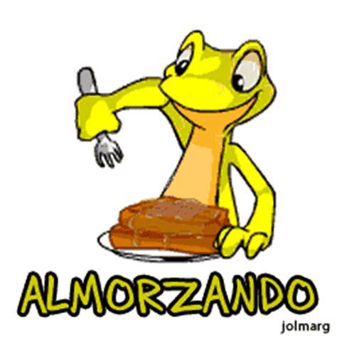 imagenes animadas almorzando almorzando etiquetas iguana amarilla comida almuerzo fondo