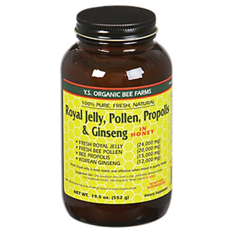 Royal Jeli Ginseng royal jelly bee pollen propolis ginseng 24000mg 18 2 fluid ounces liquid by ys royal jelly