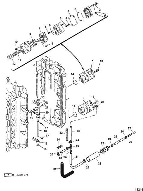 Mercury Marine 90 HP (4-Stroke) Fuel Pump (Serial No