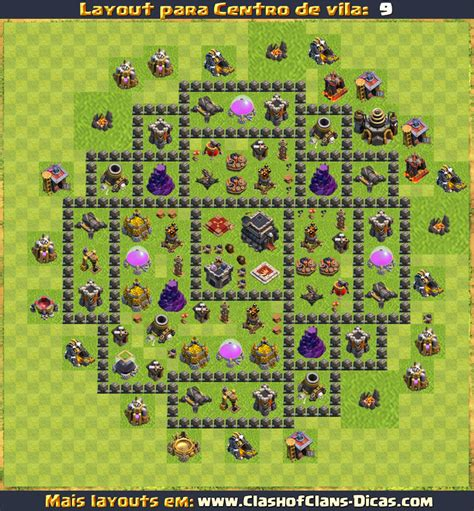 layout vila cv 9 layouts para cv9 em clash of clans atualizados clash