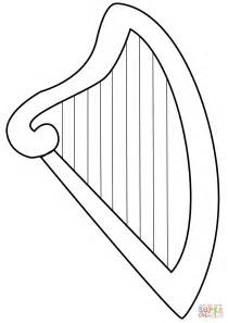 harp coloring page free printable coloring pages