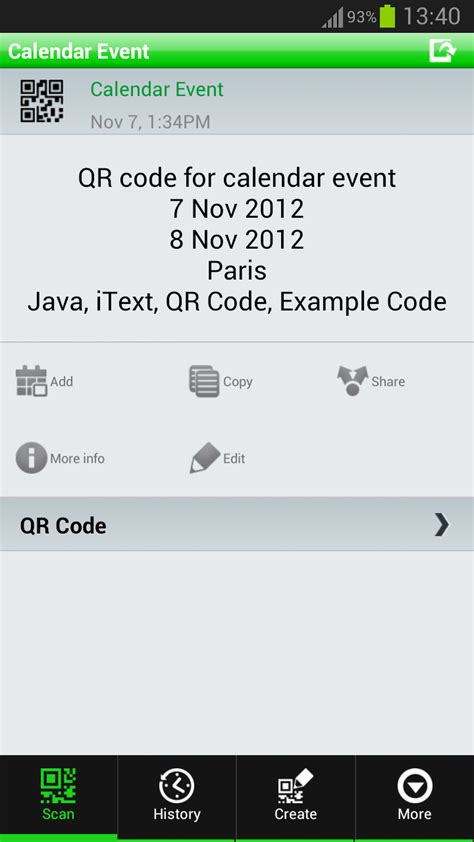 tutorial java calendar create calendar event qr code in java itext pdf exle