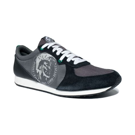diesel sneakers lyst diesel great era ahead sneakers in black for