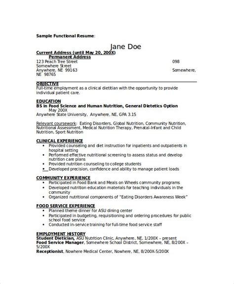 Career Objective For Dietitian Resume by Best 25 Resume Format For Freshers Ideas On